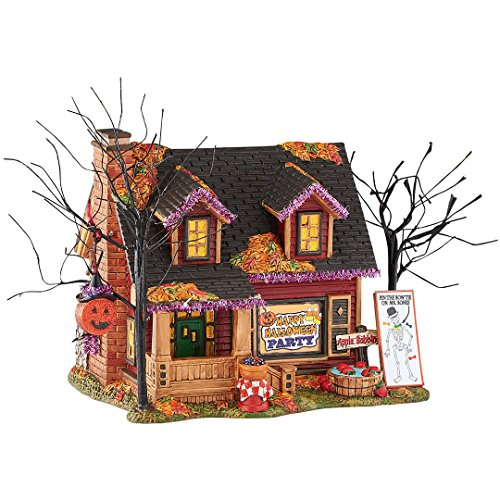 Department 56 Halloween Village Party House Lighted Building Figurine 4051008 (Ceramic Village Houses compare prices)