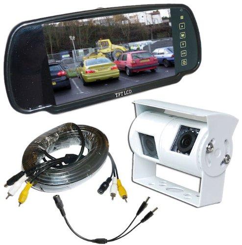 Wohnmobil-Doppel-Rckfahrkamera-hintere-Ansicht-Kit-mit-Spiegel-Monitor-Wei-Kamera
