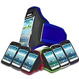 Blue Sports Jogging Armband Case Cover Comfortable Holder Soft Gym Adjustable Running For Motorola MOTO G 8GB XT1032 (XL) Mobile Cellular Phone