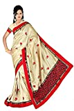 VASTRAKALA Tussar Silk Saree With Fancy Border And Embroidery Pallu And All Over Embroidery