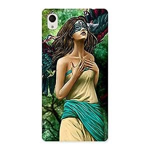 Delighted True Angel Multicolor Back Case Cover for Xperia M4 Aqua