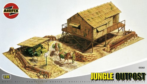 Picture of Hornby Airfix A03382 1:76 Scale Jungle Outpost Dioramas Classic Kit Figure (B0002HZWD6) (Hornby Action Figures)