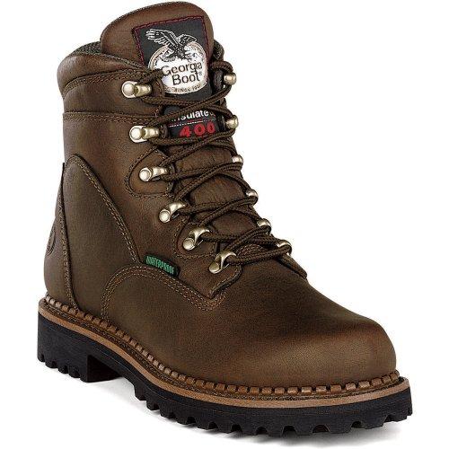 Men's Georgia Boot 6 inch Waterproof Boots Chocolate