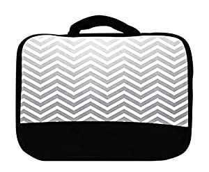 Lunch Bag, Fading Into Grey Chevron Pattern by Exclusive Design