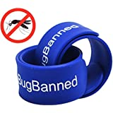 BugBanned Mosquito Repellent Wrist Band - Best Insect Repeller Bracelet For Adults and Kids - Protection Up To 340Hrs - DEET Free - All Natural Plant Oils - Pest Control - 30 Day Money Back Guarantee
