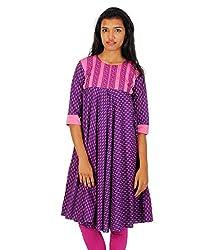 HastaVarna Designer Anarkali Kurtis Collections Purple