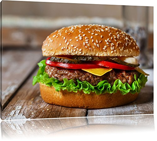 burger-hamburger-cheesburger-kase-fast-food-format-60x40-cm-auf-leinwand-xxl-riesige-bilder-fertig-g