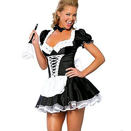 Ladies French Maid Rocky Horror Costume. Sizes 12 or 14