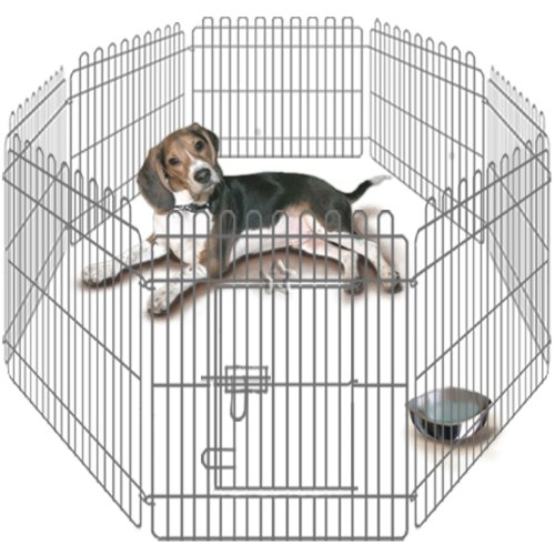 Pet Playpen Heavy Duty Dog Cat Puppy Pen Cage 8 side 3ft high