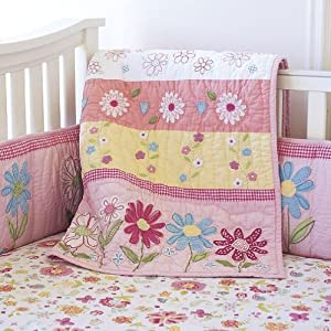 Amazon.com: Pottery Barn Kids Pink Daisy Garden Quilted Bedding: Baby