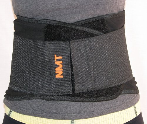 """NMT Decrease Again Brace"" ~ New Again Reinforce & Posture ~ Ache Aid and Restore – Lumbar Black Belt ~ Neo Herbal Treatment ~ Medium-Massive Duration Approx 43 in (110 cm) Adjustable."
