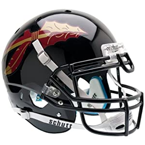 FLORIDA STATE SEMINOLES Schutt AiR XP Full-Size AUTHENTIC Football Helmet FSU (BLACK) by ON-FIELD