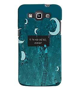 Fuson Premium To The Moon Printed Hard Plastic Back Case Cover for Samsung Galaxy Grand Quattro i8552