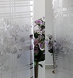 Verre Static Decorative Frosted Window glass film-ML028 (135cms X 90cms)
