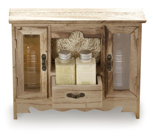 Winter In Venice - Honeysuckle Wooden Cupboard - Pamper Gift Set