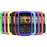 iTALKonline SoftSkin 10 PACK PURPLE RED LIGHT BLUE GREEN DARK BLUE GREEN YELLOW BLACK WHITE ORANGE PINK Silicone Protective Armour/Case/Skin/Cover/Shell for BlackBerry 8520 Curve, 9300 3G