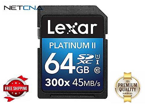 Lexar Platinum II - flash memory card - 64 GB - SDXC UHS-I - By NETCNA (Lexar 64 Gb Platinum Ii compare prices)