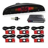 WIKOOL 高性能バックセンサー パーキングセンサー 警告音 モニター付き 12V車用 6個センサー(16.5MM) 1年間保証 ホワイト