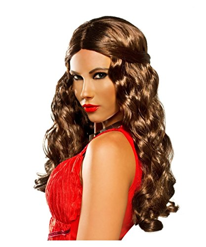 Curly Brown Renaissance Ren Fair Goddess Halloween Adult Womens Wig