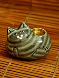 The India Craft House Cat-Candle stand (H-4