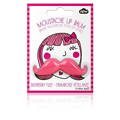 Pink Moustache Novelty Lipbalm