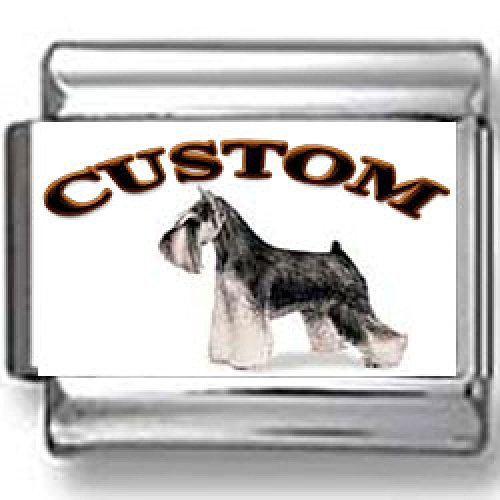 Miniature Schnauzer Dog Custom Photo Italian Charm (Schnauzer Italian Charm compare prices)