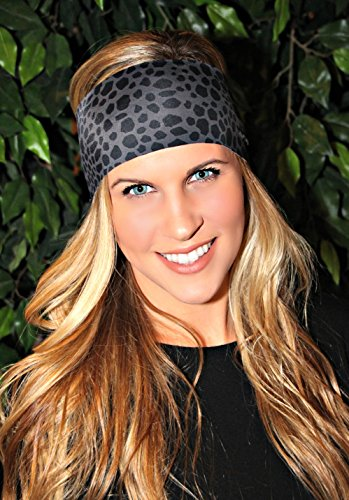 RAVEbandz Sports & Fitness Headbands - BLACK LEOPARD