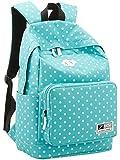 Women's and Girl's Nylon Campus Backpack EPE Foam Padding Laptop School Bag