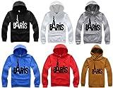 PARIS LOGO ロゴ フード メンズ パーカー トレーナー (PENGINオリジナルしおりセット)