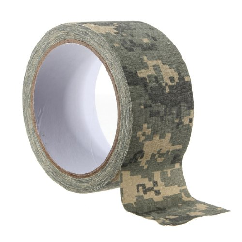 "1.96""X 393""Army Camo Fabric Tape Gun Rifle Stealth Wrap Desert Shooting Hunting Fishing 5 Color Choice"