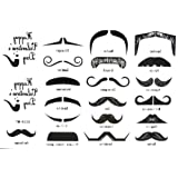 2012 Newest Halloween Christmas Gama-go Fingerstache Interesting Beard for Party Temporary Tattoos