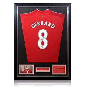 Framed Steven Gerrard Liverpool signed shirt by A1 Sporting Memorabilia