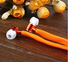 buy Crazy Panda® New Cool Universal Sports Earbuds Metal Earphones Stereo Bass Headset With Mic-Remote For Smartphones Pad Laptop Mp3/Mp4 (Orange)