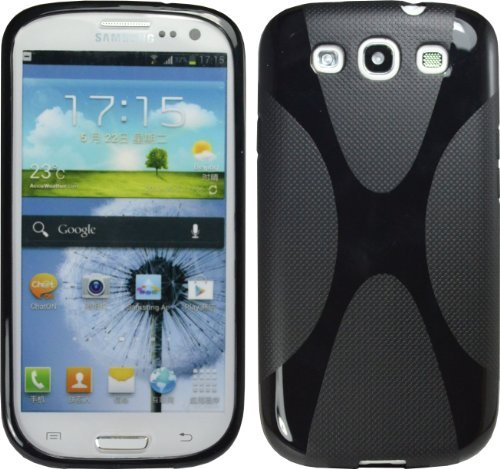 Black X-Line Tpu Case For Samsung Galaxy S Iii S3 I9300 I535 L710 T999 Cover
