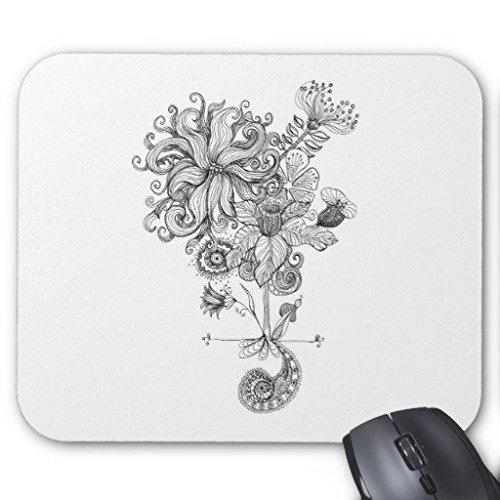 gaming-mouse-pad-blanco-y-negro-flores-dibujo-rectangulo-oficina-mousepad-9-x-7