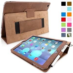 Snugg™ - Étui Pour iPad Air (iPad 5) - Smart Case Avec Support Pied Et Une Garantie à Vie (En Cuir Marron) Pour Apple iPad Air