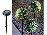 Express Trading ® NEW 3 x 27 LED SOLAR POWERED TOPIARY BALL SPHERE STAKES OUTDOOR GARDEN LIGHTS