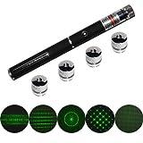 Laser puntero verde con 5 casquillos de Proyección estrella Constelación 5 patrones de luz de la etapa placeres infinitos QQ-Tech 5mW 5in1 High Power