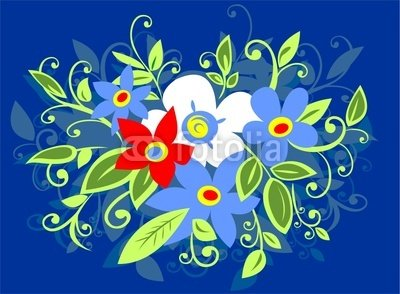 Wallmonkeys Peel and Stick Wall Decals - Flowers Bouquet - 60