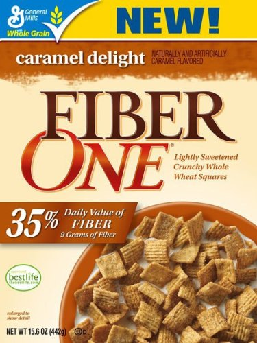 Fiber One Caramel Delight Cereal, 15.6-Ounce Boxes (Pack of 4)