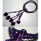 女性用のお数珠 紫水晶二双法華