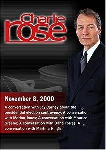 Charlie Rose with Jay Carney; Marion Jones; Maurice Green; Dana Torres; Martina Hingis (November 8, 2000)