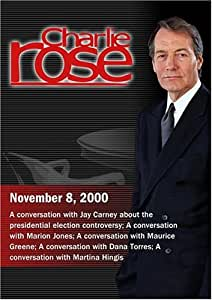 Charlie Rose with Jay Carney; Marion Jones; Maurice Green; Dana Torres; Martina Hingis (November 8, 2000)