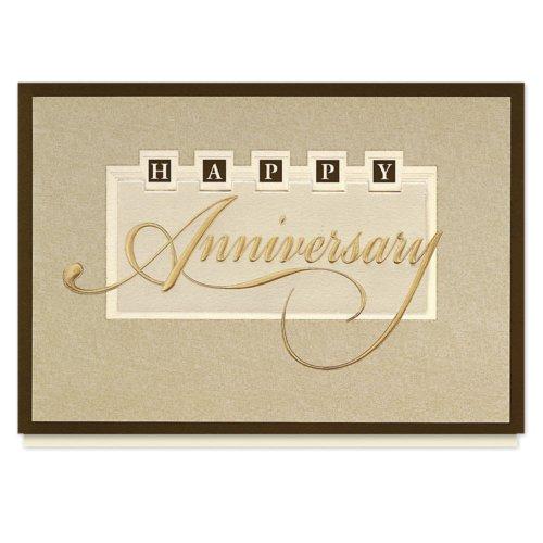 Elegant Anniversary Wishes Card - 25 Premium