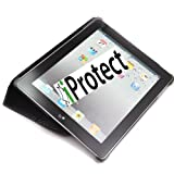 "IProtect ORIGINAL iPad 2 CARBON Case HIGHCLASS Tasche inkl. Aufsteller f�r das Apple iPad 2, schwarz Smartcover Smart Covervon ""iprotect"""