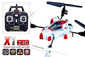 SYMA X1 BEE JET UFO 4CH 4-AXIS 2.4GHZ RC LCD GYRO AIRCRAFT QUADCOPTER HELICOPTER (JET HELICOPTER)