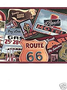 Route 66 Wallpaper Border