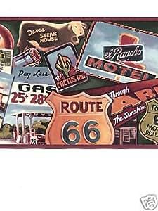 Route 66 Wallpaper Border