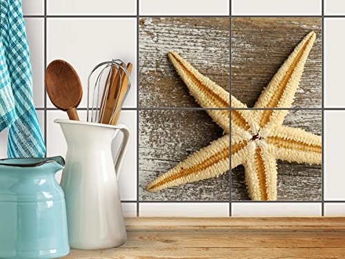 fliesenfolie selbstklebend 15x15 cm 2x2 design starfish. Black Bedroom Furniture Sets. Home Design Ideas