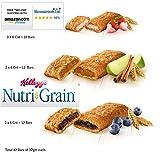Kellogg's Nutri-Grain Fruity Breakfast Bars Variety Pack Total 42 Bars of 37gm each